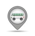 mini bus icon map pointer design vector image