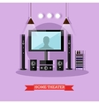 home theater modern audio vector image