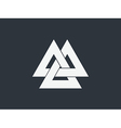 Valknut is a symbol of the worlds end of the tree vector image