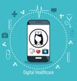 nurse digital medical healthcare isolated vector image