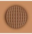 Weaved ball vector image