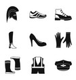 fashion shoes icon set simple style vector image