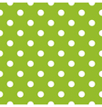 Seamless green pattern with white dots vector image vector image