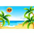 Beach under the sun vector image