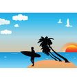tropical surf vector image vector image