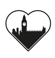 i love London template vector image vector image