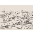 House roofs drawing small cityscape vector image vector image