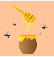 Apiary symbols Bee honey honeycomb vector image
