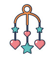 baby bed carousel icon cartoon style vector image