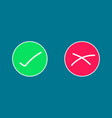circle icons were wrong green and red vector image