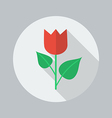 Eco Flat Icon Flower vector image