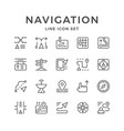 set line icons of navigation vector image