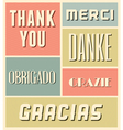 Vintage style thank you greeting cards set vector image