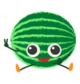 watermelon icon cartoon style vector image