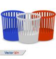 Plastic bins vector image