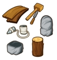 Ancient items for woodworking vector image