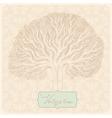 Vintage tree vector image