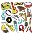 Musical Instruments Stickers Patches Badges vector image