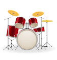 drum set kit musical instruments stock vector image vector image