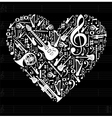 Love for music concept vector image vector image