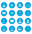magic icon blue vector image