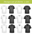 big design set shirts vector image vector image
