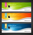 Banner design tablet vector image