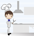 chef in the kitchen vector image