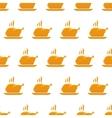 Chicken background vector image