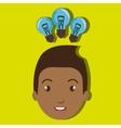 child student idea bulb vector image
