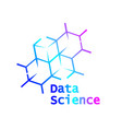 data science logo icon design vector image