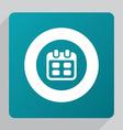flat calendar icon vector image