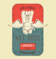 hot dog poster vector image