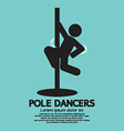 Pole Dancers Graphic vector image