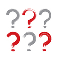 Set of hand-drawn question mark icons collection vector image