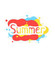 summer colored abstract logo with shadow vector image