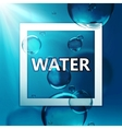 transparent fresh shiny water vector image