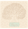 vintage tree vector image