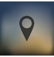 pointer icon on blurred background vector image
