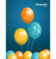 balloon infographic vector image