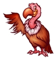 vulture in cartoon style vector image