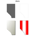 Alberta blank outline map set vector image
