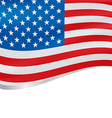 Waving flag of USA background vector image