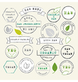 Raw and Vegan stamps set vector image