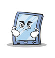 angry tablet character cartoon style vector image