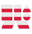 buttons with flag of Poland vector image