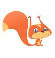 Cute cartoon squirrel in playful mood vector image
