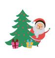 cute santa claus christmas character vector image