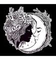 Dreamy elf fairy with a moon vector image
