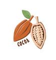 logo icon design cocoa farm vector image